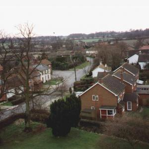 SE from Church Tower, winter 97/98