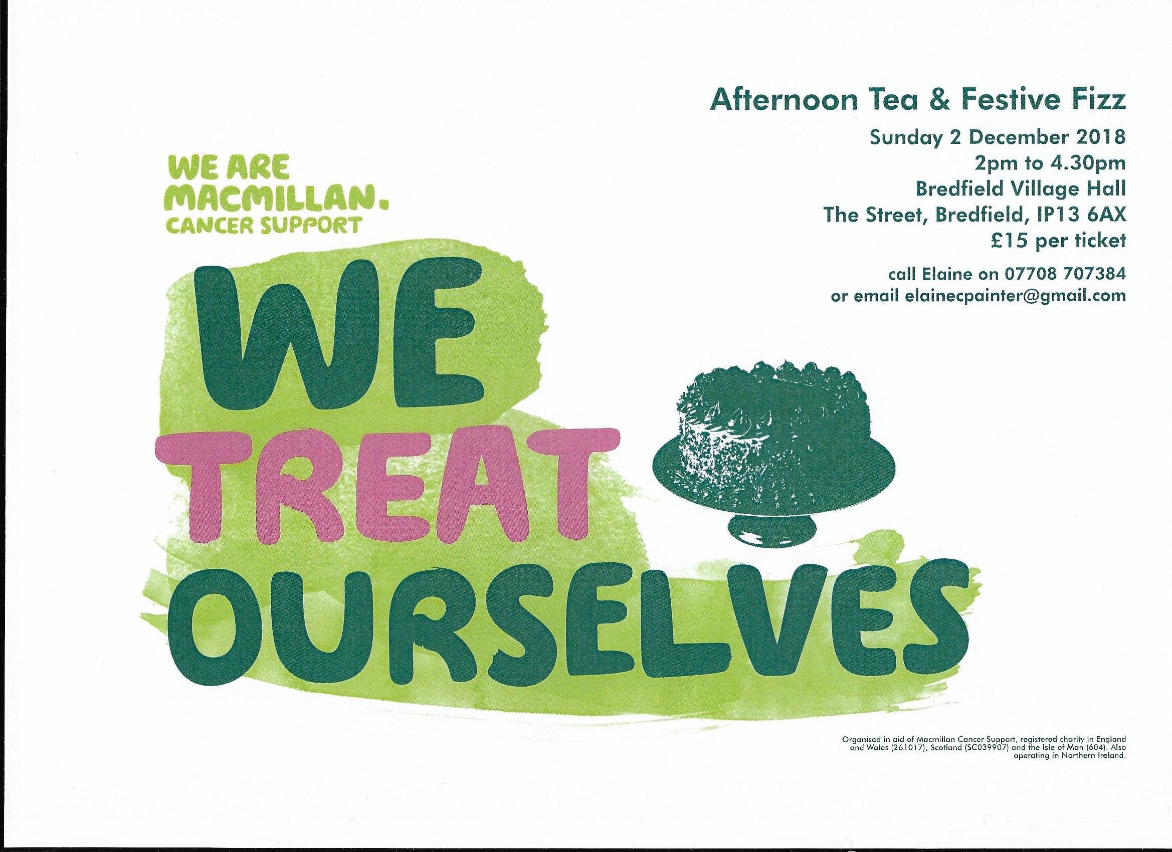 Macmillan Afternoon Tea & Fizz